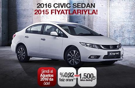 Kampanya 2016 Civic Sedan 2015 Fiyatlarıyla Otomobil