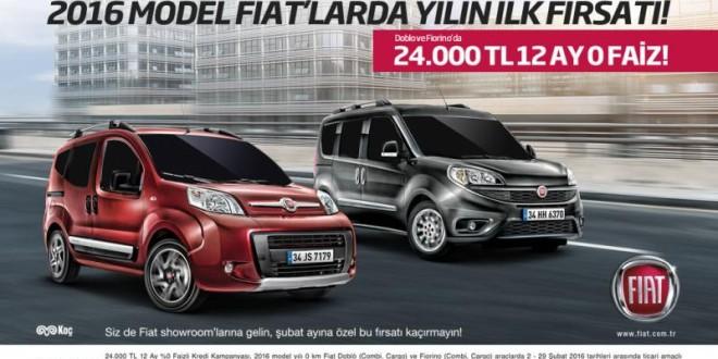 Doblo ve Fiorino'da 24.000 TL 12 AY 0 FAİZ!