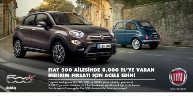Fiat 500 Ailesinde 8.000 tl'ye varan indirim firsatı!